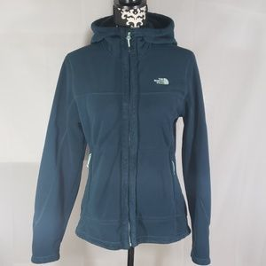 The North face full zip hooded sweater size Lg